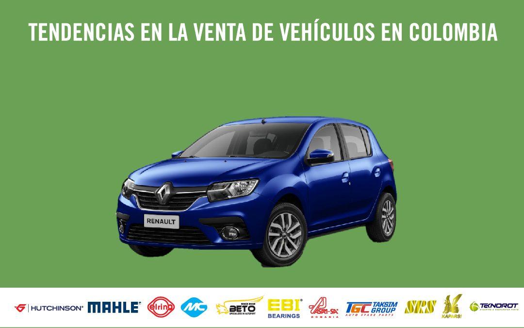 Tendencias en la venta de vehículos en Colombia